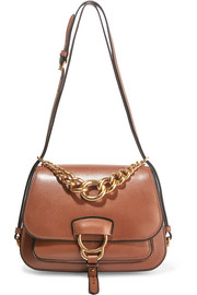 Dahlia leather shoulder bag