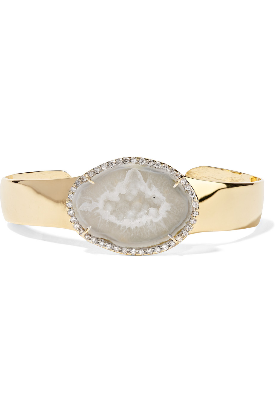 18-Karat Gold, Geode and Diamond Cuff, Kimberly Mcdonald, Women's