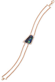 Kimberly McDonald 18-karat rose gold, opal and diamond bracelet