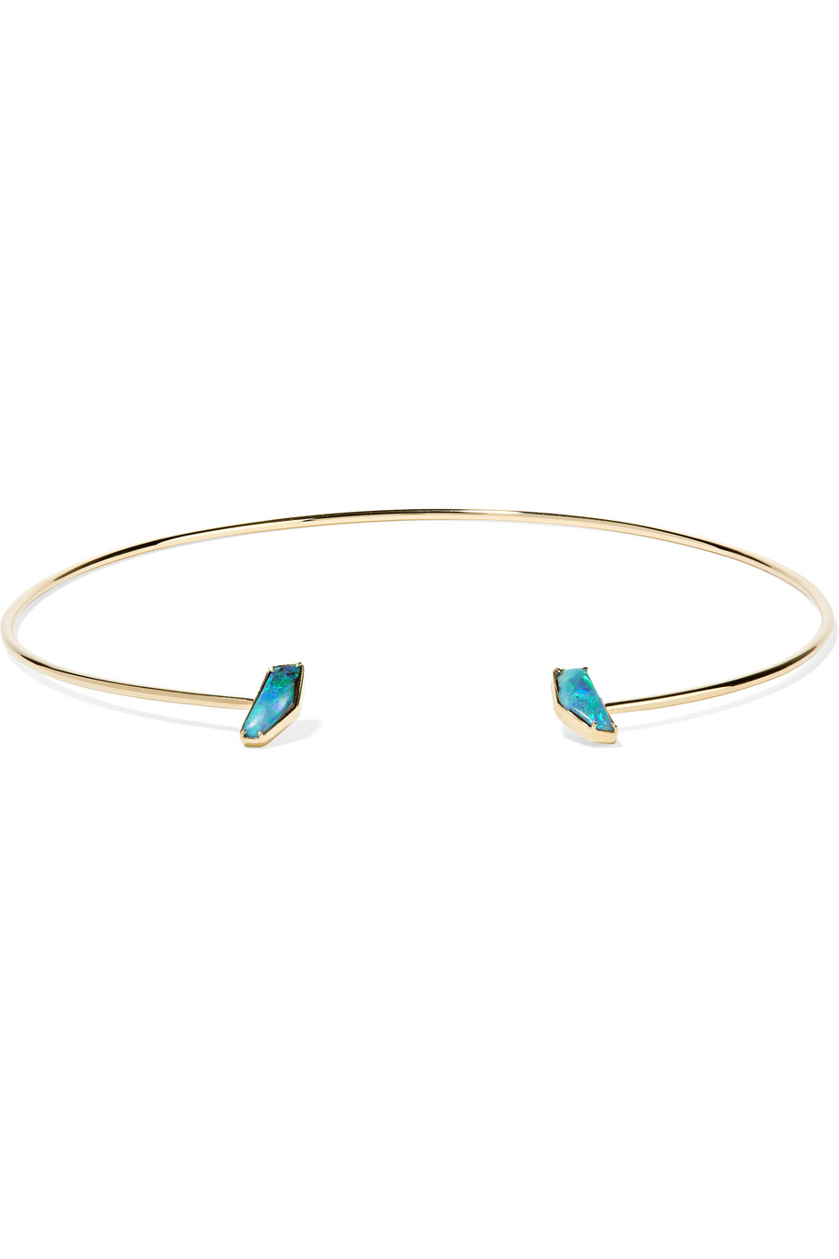 18-Karat Gold Boulder Opal Necklace, Kimberly Mcdonald, Gold/Blue, Women's