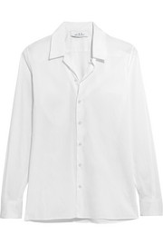 IRO + Anja Rubik Tamie cotton and silk-blend shirt
