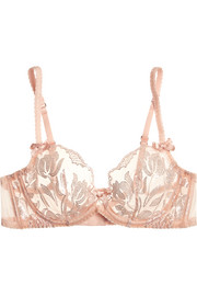 Agent Provocateur Sparkle embroidered tulle underwired bra