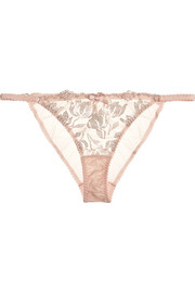 Agent Provocateur Sparkle embroidered tulle briefs