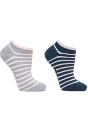 Falke Set of two striped cotton-blend socks