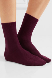 Set of two Armour textured wool-blend socks