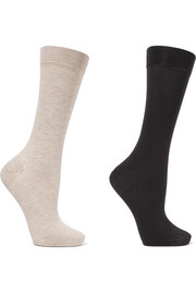 Sensual set of two stretch cotton-blend socks