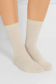 Set of three cotton-blend socks