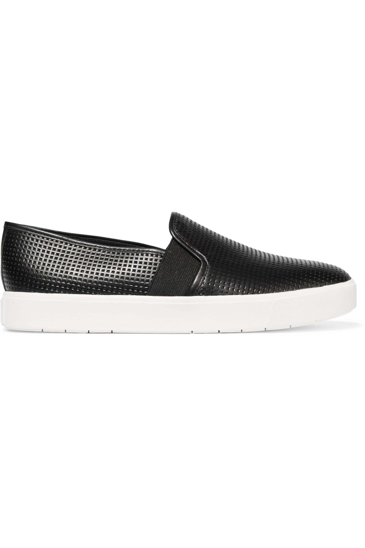 Black Blair 5 perforated leather slip