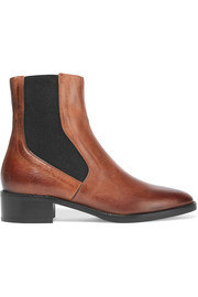 Vince Carrington burnished-leather Chelsea boots