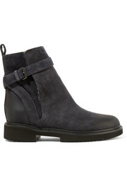 Claudia shearling-lined suede ankle boots