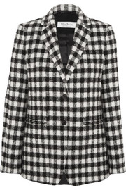 Checked textured-felt blazer