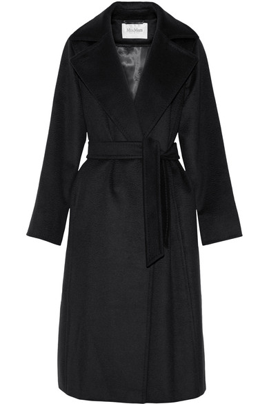 Black Manuela Coat in 002 Black