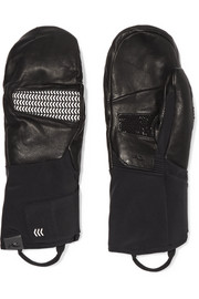 Powder leather and shell mittens