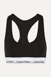 캘빈 클라인 모던 스포츠브라 블랙 Calvin Klein Modern Cotton stretch cotton-blend soft-cup bra