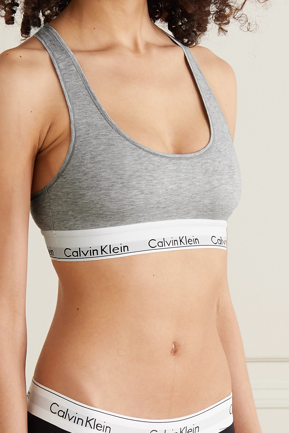 Calvin Klein Underwear Modern Cotton stretch cotton-blend soft-cup bra