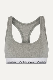 캘빈 클라인 모던 스포츠브라 그레이 Calvin Klein Modern Cotton stretch cotton-blend soft-cup bra
