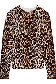 Shirley leopard-print silk and cashmere-blend sweater