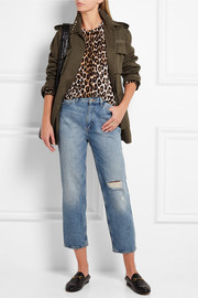 Equipment Shirley leopard-print silk and cashmere-blend sweater
