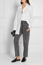 Equipment Hadley leopard-print washed-silk straight-leg pants