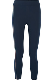 Kela bead-embellished stretch-jersey leggings