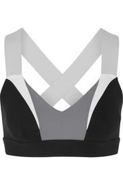 Ola color-block stretch-jersey sports bra