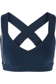 Ola bead-embellished stretch-jersey sports bra