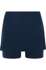 Alani bead-embellished stretch-jersey shorts