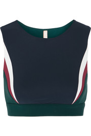 Lani paneled stretch-jersey sports bra