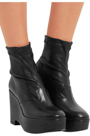 Robert Clergerie Bilou leather wedge ankle boots