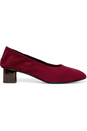 Robert Clergerie Poket suede pumps