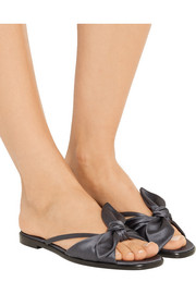 April bow-embellished silk-satin sandals