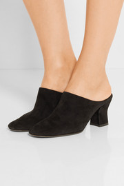 The Row Adela suede mules