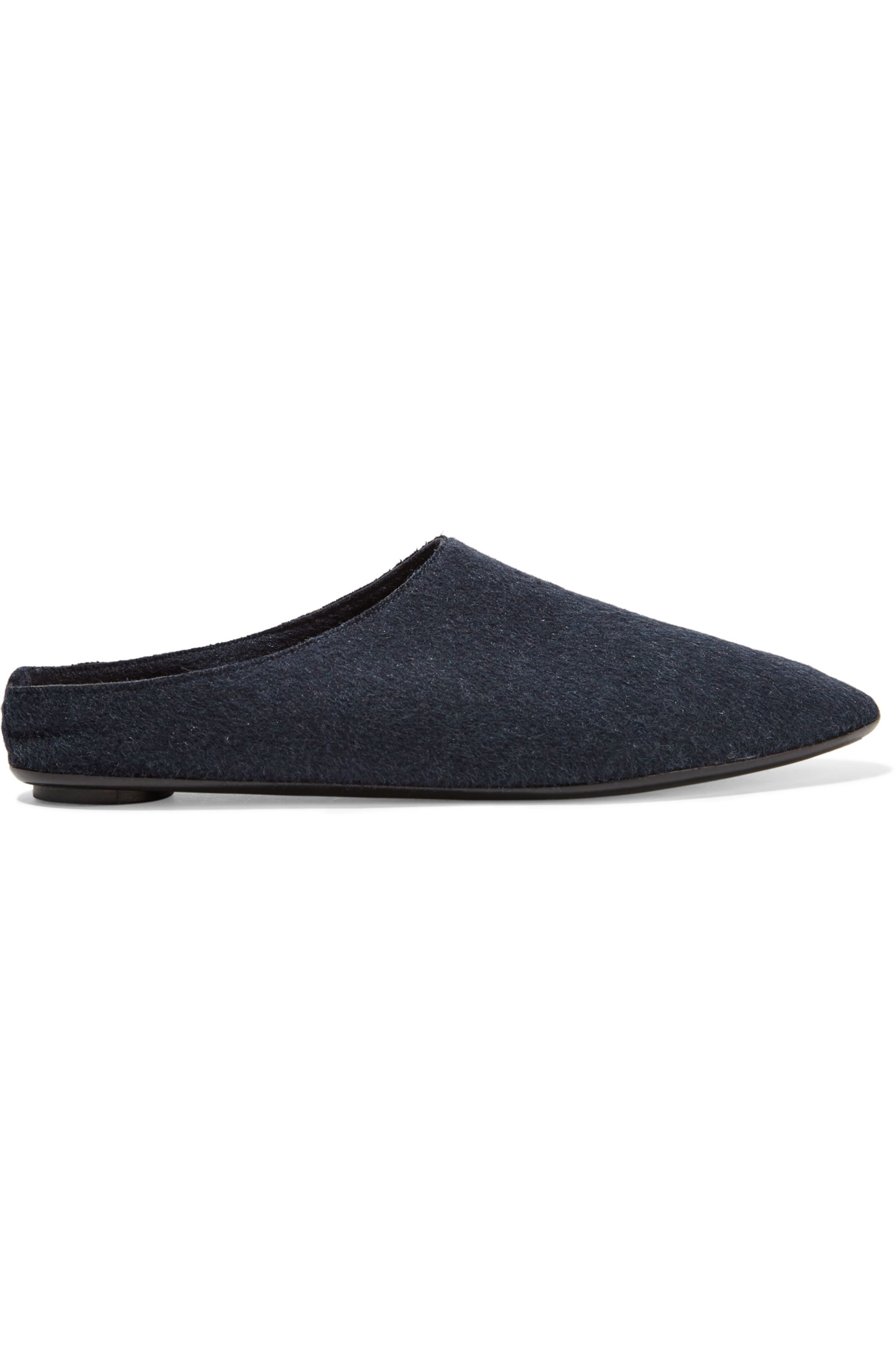 Midnight blue Bea cashmere slippers