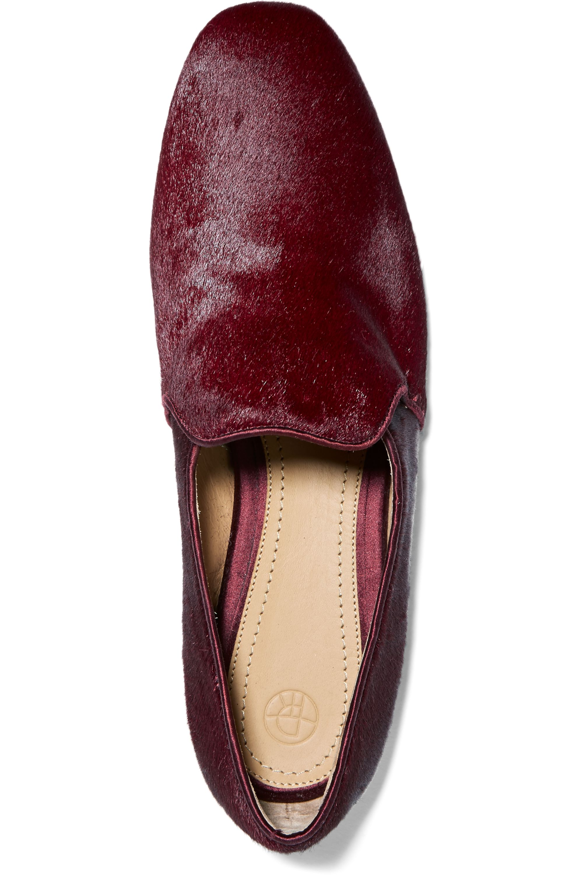 The Row Alys calf hair loafers