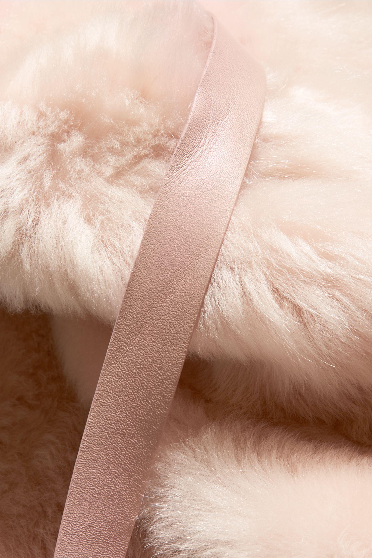 Miu Miu Leather-trimmed shearling coat
