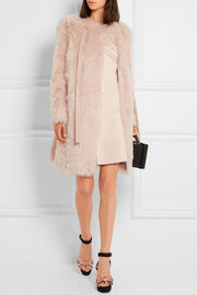 Miu Miu Leather-trimmed shearling coat