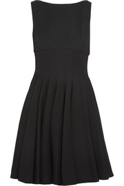 Pleated cady mini dress