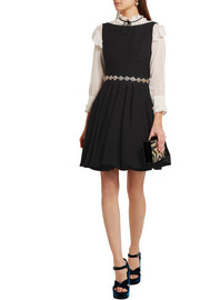 Miu Miu Pleated cady mini dress