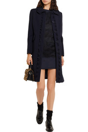 Miu Miu Lace and cotton-jersey mini dress