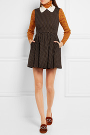 Miu Miu Wool and cotton-blend mini dress