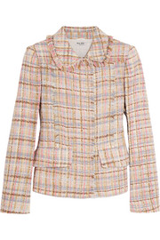 Checked wool-blend tweed jacket