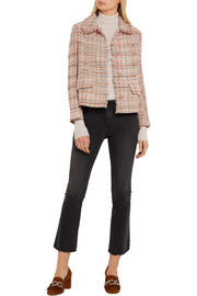 Miu Miu Checked wool-blend tweed jacket