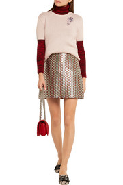 Miu Miu Crystal-embellished cashmere sweater