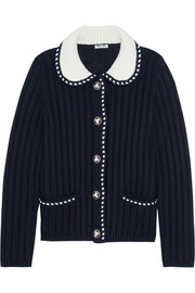 Miu Miu Two-tone wool cardigan