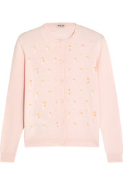 Miu Miu Embellished wool cardigan