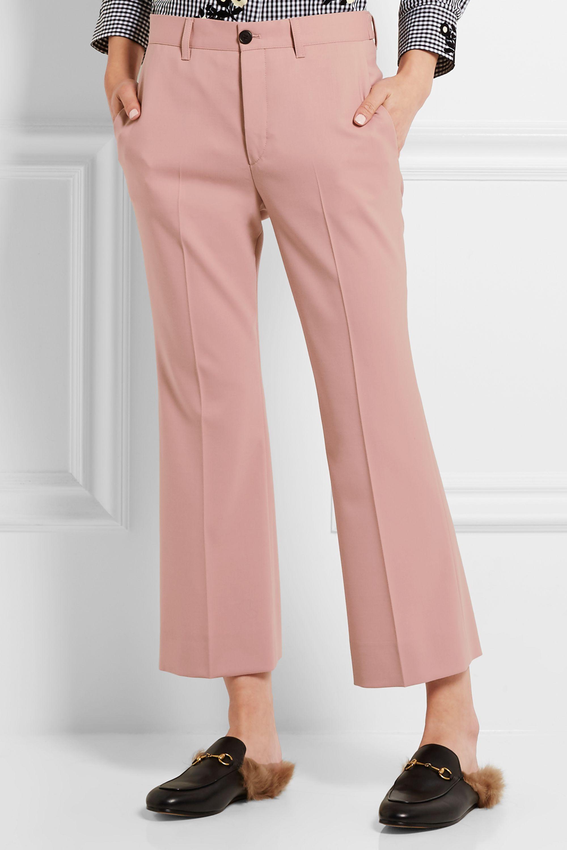 Miu Miu Cropped stretch-wool twill flared pants