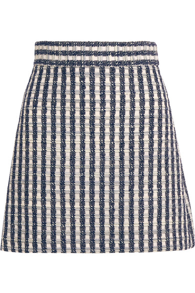 Miu Miu - Wool-blend Tweed Mini Skirt - Blue