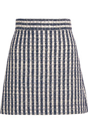Miu Miu Wool-blend tweed mini skirt