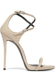 Patent-leather sandals