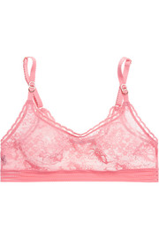 Breast Cancer Awareness Stella stretch-lace soft-cup bra